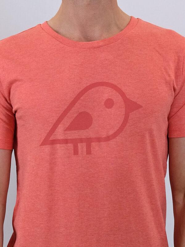 Camiseta bird coral2