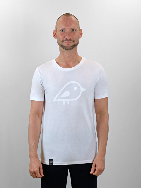 Camiseta bird white